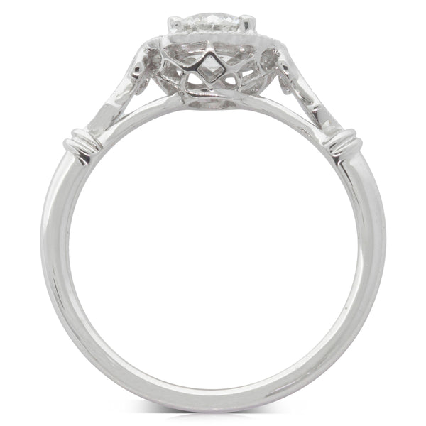 18ct White Gold .57ct Diamond Versaille Ring - Walker & Hall