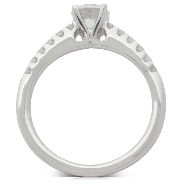 18ct White Gold .65ct Diamond Meridien Ring - Walker & Hall