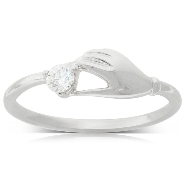 18ct White Gold .13ct Diamond Ring - Walker & Hall