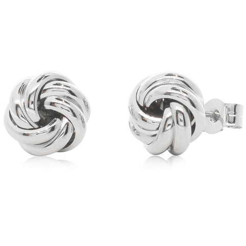 Sterling Silver Knot Studs - Walker & Hall