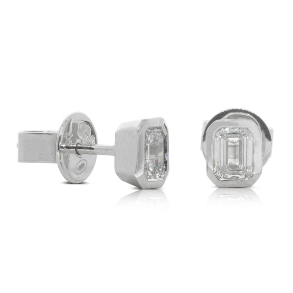 18ct White Gold .60ct Diamond Stud Earrings - Walker & Hall