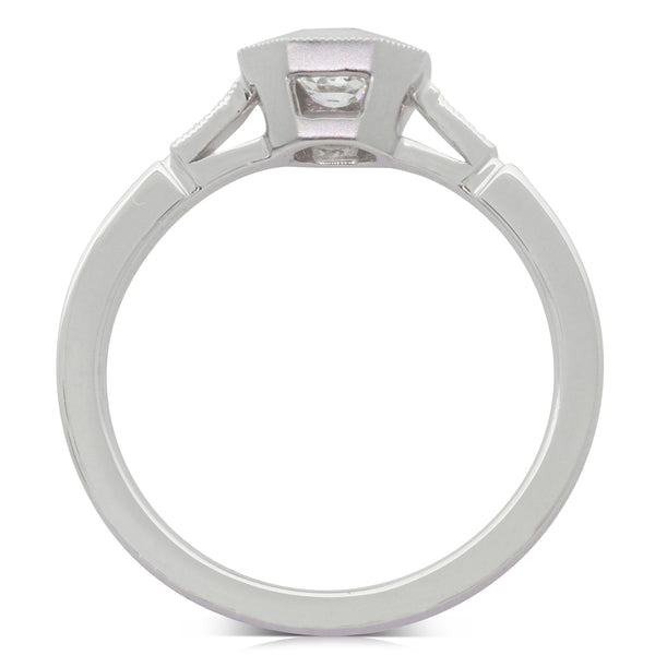 18ct White Gold .45ct Diamond Ring - Walker & Hall