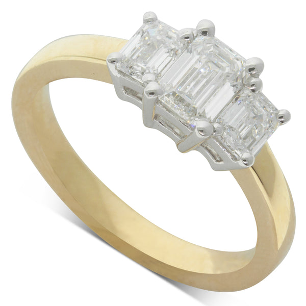 18ct White & Yellow Gold 1.33ct Odyssey Diamond Ring - Walker & Hall