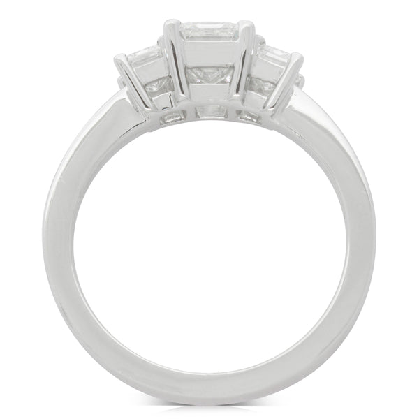 18ct White Gold 1.55ct Odyssey Diamond Ring - Walker & Hall