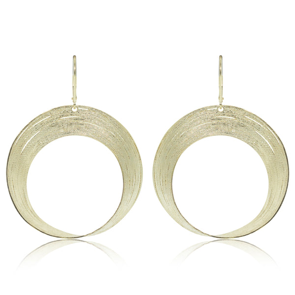 14ct Yellow Gold Large Open Circle Earrings - Walker & Hall
