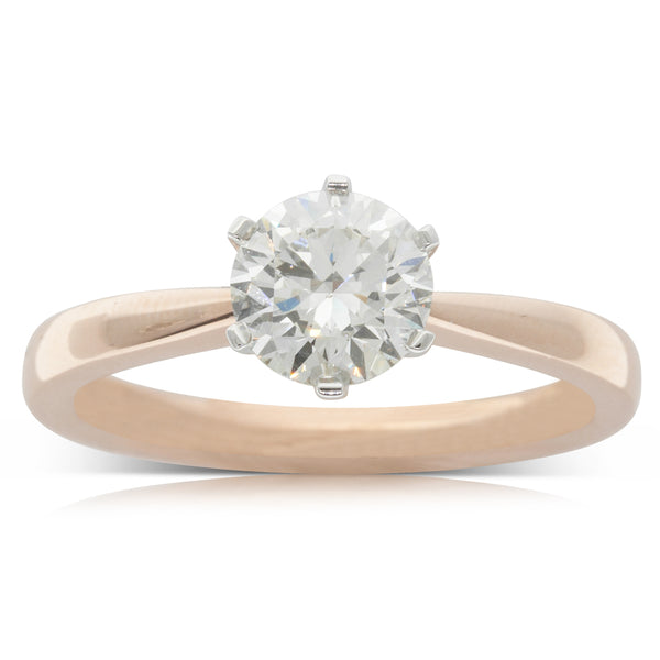18ct Rose Gold 1.06ct Diamond Nova Ring - Walker & Hall