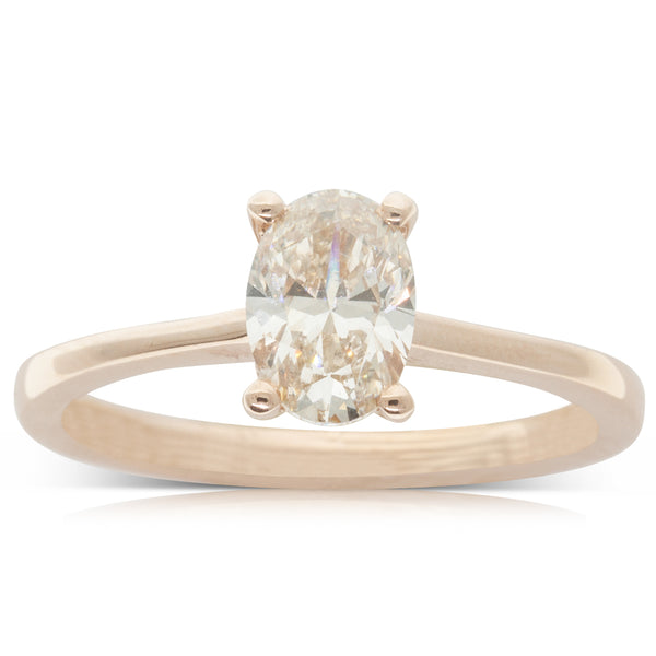 18ct Rose Gold 1.01ct Diamond Solitaire Ring - Walker & Hall