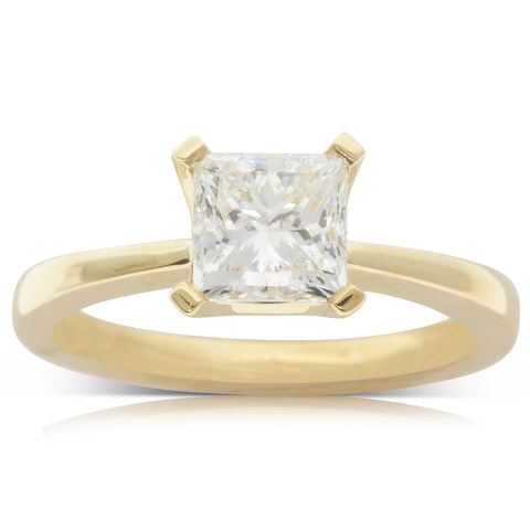 18ct Yellow Gold 1.50ct Diamond Royale Ring - Walker & Hall