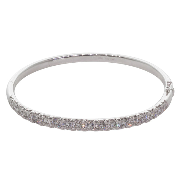18ct White Gold 4.47ct Diamond Meridien Bangle - Walker & Hall