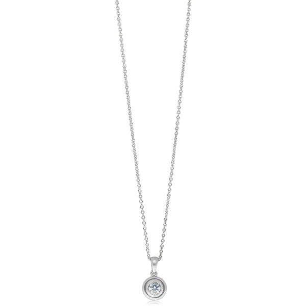18ct White Gold .23ct Diamond Solitaire Pendant - Walker & Hall
