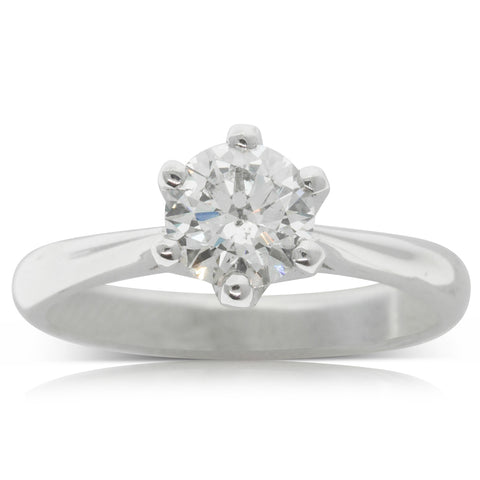 18ct White Gold .96ct Diamond Solitaire Ring - Walker & Hall