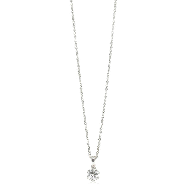 18ct White Gold .50ct Diamond Lily Pendant - Walker & Hall
