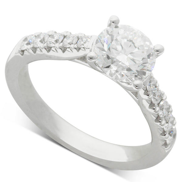 18ct White Gold 1.50ct Diamond Phoenix Ring - Walker & Hall