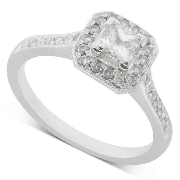 18ct White Gold .38ct Diamond Mandalay Ring - Walker & Hall