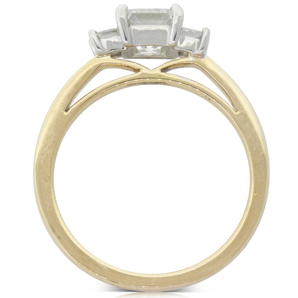 18ct Yellow & White Gold .70ct Diamond Olympus Ring - Walker & Hall