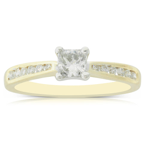 18ct Yellow Gold .39ct Diamond Avalon Ring - Walker & Hall