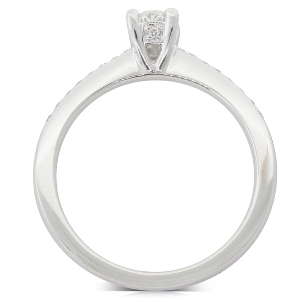 18ct White Gold .41ct Diamond Ring - Walker & Hall