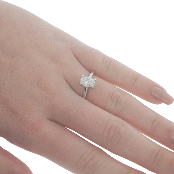18ct White Gold 1.05ct Diamond Solitaire Ring - Walker & Hall