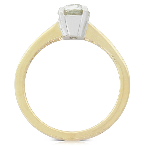 18ct Yellow Gold .74ct Diamond Riviera Ring - Walker & Hall