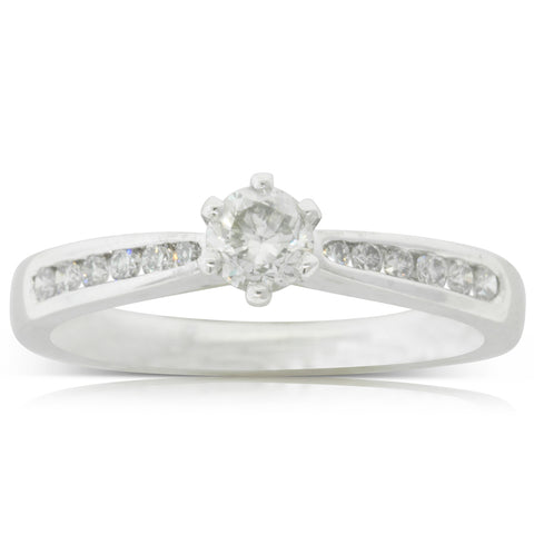 Platinum .31ct Diamond Avalon Ring - Walker & Hall