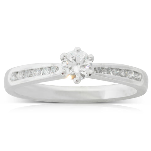 Platinum .27ct Diamond Avalon Ring - Walker & Hall