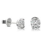 18ct White Gold 1.21ct Diamond Blossom Studs - Walker & Hall