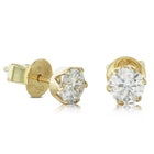 18ct Yellow Gold 1.18ct Diamond Lily Stud Earrings - Walker & Hall