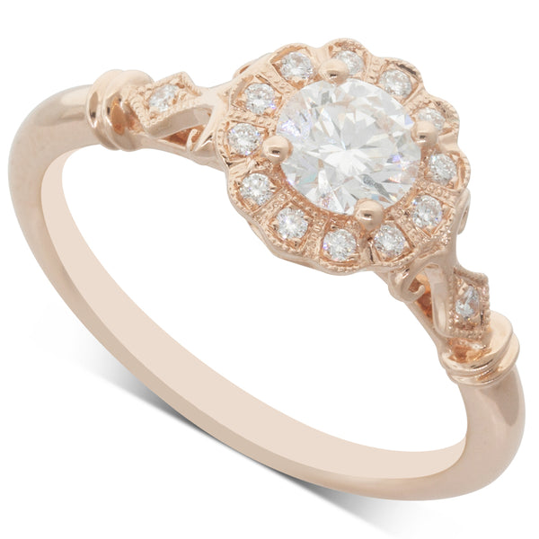 18ct Rose Gold .46ct Diamond Versaille Ring - Walker & Hall