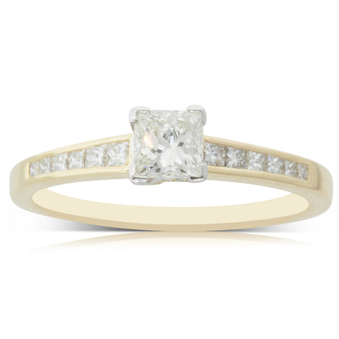 18ct Yellow Gold .44ct Diamond Riviera Ring - Walker & Hall