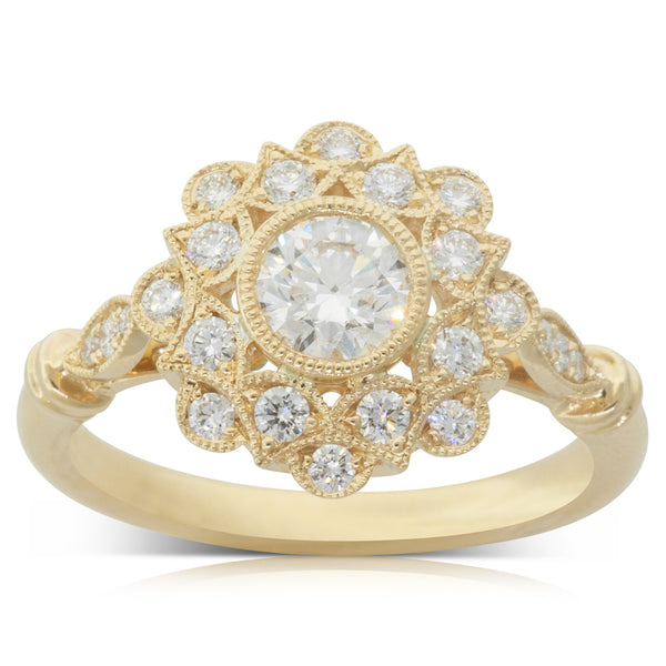 18ct Yellow Gold .50ct Diamond Mayfair Ring - Walker & Hall
