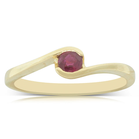 18ct Yellow Gold .29ct Ruby Embrace Ring - Walker & Hall