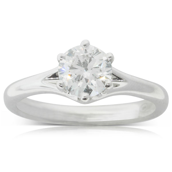 18ct White Gold 1.10ct Diamond Grace Ring - Walker & Hall