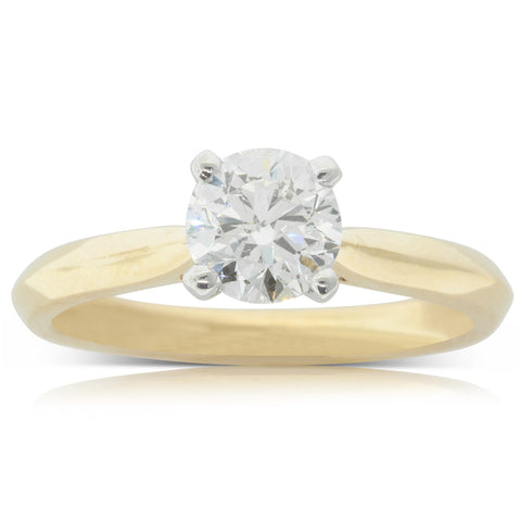 18ct Yellow Gold 1.01ct Diamond Venetian Ring - Walker & Hall