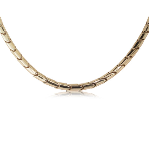 9ct Yellow Gold Snake Necklace - Walker & Hall