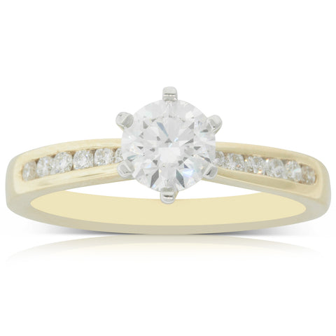 18ct Yellow Gold .75ct Diamond Avalon Ring - Walker & Hall