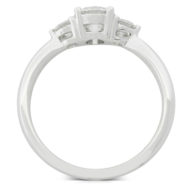 18ct White Gold .60ct Diamond Elysian Ring - Walker & Hall