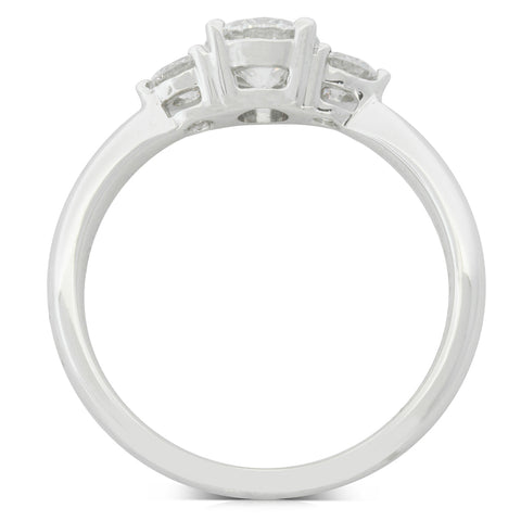 18ct White Gold .58ct Diamond Elysian Ring - Walker & Hall