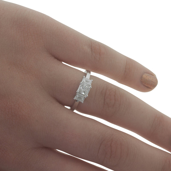 18ct White Gold 1.14ct Odyssey Diamond Ring - Walker & Hall