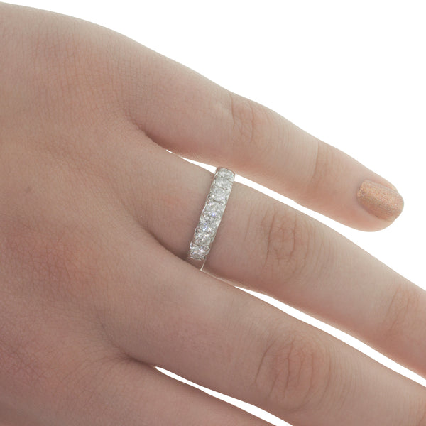 18ct White Gold .63ct Diamond Band - Walker & Hall