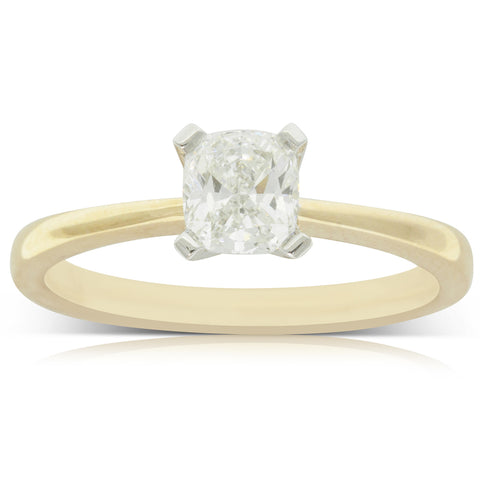18ct Yellow Gold .71ct Diamond Royale Ring - Walker & Hall