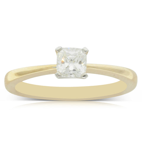 18ct Yellow Gold .51ct Diamond Royale Ring - Walker & Hall