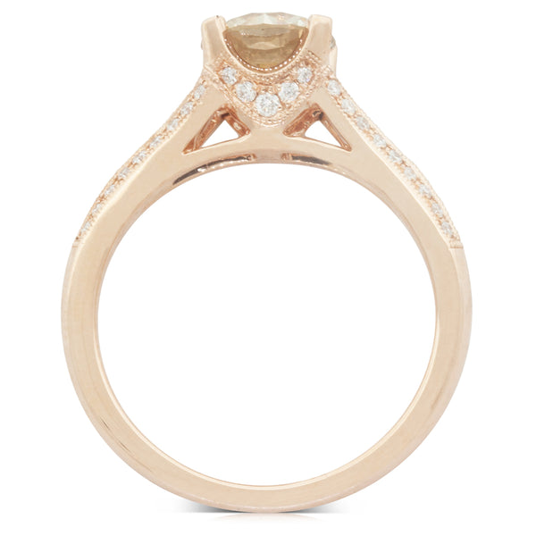 18ct Rose Gold 1.31ct Diamond Eiffel Ring - Walker & Hall