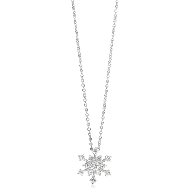 18ct White Gold .43ct Diamond Snowflake Pendant - Walker & Hall