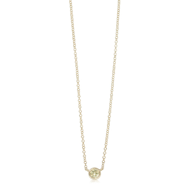 18ct Yellow Gold .21ct Diamond Solitaire Pendant - Walker & Hall