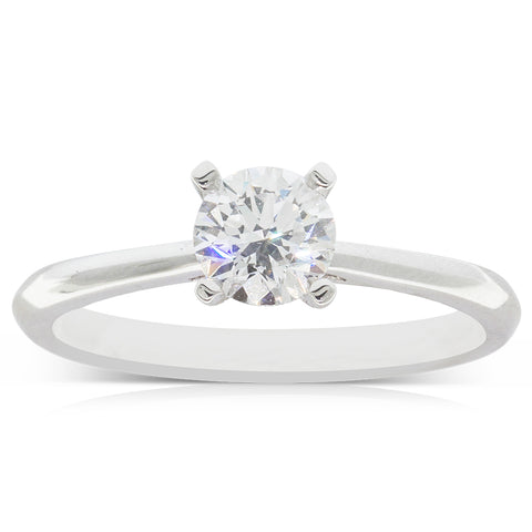 18ct White Gold .70ct Flawless Diamond Ring - Walker & Hall