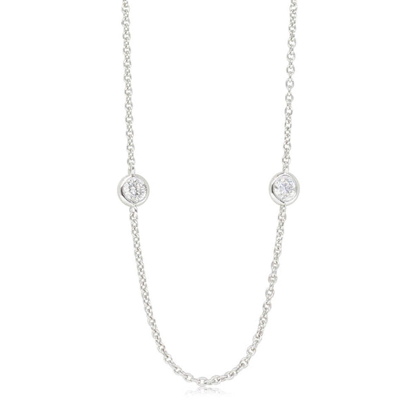 18ct White Gold .50ct Diamond Necklace - Walker & Hall