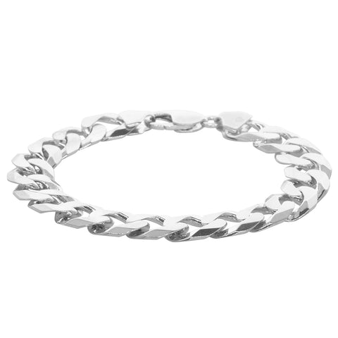 Sterling Silver Cuban Chain Bracelet - Walker & Hall