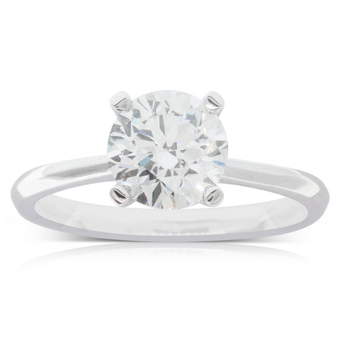 18ct White Gold 1.76ct Flawless Diamond Ring - Walker & Hall