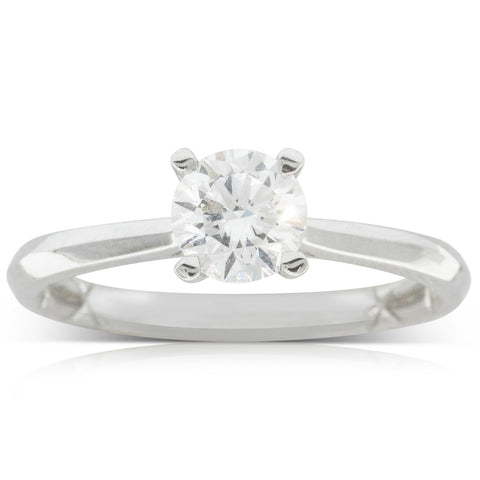 18ct White Gold .80ct Flawless Diamond Ring - Walker & Hall