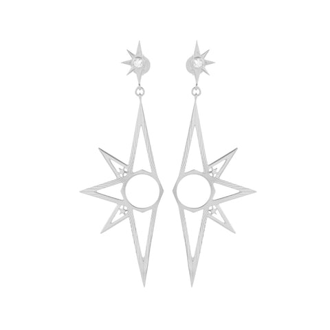 Zoe & Morgan x Walker & Hall Skyward Drop Earrings - Sterling Silver - Walker & Hall